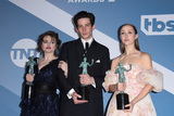 Helena Bonham Photo - LOS ANGELES - JAN 19  Helena Bonham Carter Josh OConnor Erin Doherty at the 26th Screen Actors Guild Awards at the Shrine Auditorium on January 19 2020 in Los Angeles CA