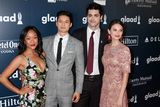 Harry Shum Jr Photo - LOS ANGELES - APR 1  Shelby Rabara Harry Shum Jr Matthew Daddario Esther Kim at the 28th Annual GLAAD Media Awards at Beverly Hilton Hotel on April 1 2017 in Beverly Hills CA