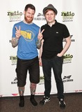 Andy Hurley Photo - BALA CYNWYD PA - JUNE 27 (L to R) Andy Hurley  Patrick Stump of American Alternative Rock Band Fall Out Boy Pose at Radio 1045s Performance Theatre on June 27 2014 in Bala Cynwyd Pennsylvania (Photo by Paul J FroggattFamousPix)