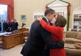 House Speaker Nancy Pelosi Photo - United States President Barack Obama embraces US House Speaker Nancy Pelosi (Democrat of California) following their meeting in the Oval Office December 4 2010 Photo by Pete SouzaWhite HouseCNP-PHOTOlinknet