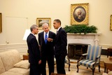 Benjamin Netanyahu Photo - Washington DC - May 18 2009 -- United States President Barack Obama talks with Prime Minister Benjamin Netanyahu of Israel center and White House Chief of Staff Rahm Emanuel in the Oval Office MANDATORY CREDIT Pete SouzaWhite House-CNP-PHOTOlinknet