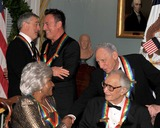 Dave Brubeck Photo - Washington DC - December 5 2009 -- 2009 Kennedy Center honorees Robert De Niro and Bruce Springsteen upper left embrace as Mel Brooks congratulates Grace Bumbry after they posed for the formal group photo following the Artists Dinner at the United States Department of State in Washington DC on Saturday December 5 2009  Dave Brubeck looks on from lower rightPhoto by Ron SachsPool-CNP-PHOTOlinknet