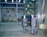 President Kennedy Photo - United States President John F Kennedy visited Marshall Space Flight Center (MSFC) in Huntsville Alabama on September 11 1962 Here President Kennedy and Dr Wernher von Braun MSFC Director tour one of the laboratoriesPhoto by NASACNP-PHOTOlinknet