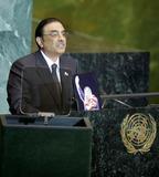 Asif Ali Photo - New York NY 9-25-2008United NationsPakistani President elect Asif Ali Zardariaddresses the 63rd UN General AssemblyDigital photo by Luiz Rampelotto-PHOTOlinknet