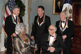 Dave Brubeck Photo - Washington DC - December 5 2009 -- 2009 Kennedy Center honorees pose informally after posing for the formal group photo following the Artists Dinner at the United States Department of State in Washington DC on Saturday December 5 2009  Front row from left to right Grace Bumbry and Dave Brubeck  Back row from left to right Robert De Niro Bruce Springsteen Mel BrooksPhoto by Ron SachsPool-CNP-PHOTOlinknet