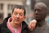 Antony Gormley Photo - RESTRICTED NO NEW YORK OR NEW JERSEY NEWSPAPERS WITHIN A 75 MILE RADIUS OF NYCNew York NY 3232010Artist Antony Gormley stands with a piece from his new public art installation Event Horizon a collection of thirty-one casts of the artist himself placed in and around Madison Square Park Digital photo by Andy Lavin-PHOTOlinknet