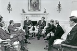 Henry A Kissinger Photo - Washington DC - January 18 1971 -- United States President Richard M Nixon meets with his Defense and National Security teams in the Oval Office in the White House in Washington DC on January 18 1971  Pictured from left to right unidentified Doctor Henry A Kissinger Assistant to the President for National Security Affairs United States Secretary of State William P Rogers President Nixon United States Secretary of Defense Melvin Laird unidentified and Brigadier General Alexander M Haig Jr United States ArmyCredit White House via CNPPHOTOlinknet