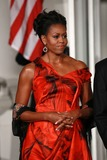 Alex Wong Photo - WASHINGTON DC - JANUARY 19  US first lady Michelle Obama waits for Chinese President Hu Jintao to arrive for a State dinner at the White House January 19 2011 in Washington DC Obama and Hu met in the Oval Office earlier in the day  Photo by  Alex WongPoolCNP-PHOTOlinknet