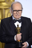 Ennio Morricone Photo - Photo by PDstarmaxinccomSTAR MAXCopyright 2016ALL RIGHTS RESERVEDTelephoneFax (212) 995-119622816Ennio Morricone with the Academy Award for Best Original Score at the 88th Annual Academy Awards (Oscars)(Hollywood CA USA)