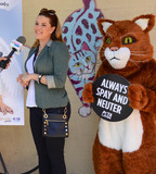 Alicia Machado Photo - Photo by PETAstarmaxinccomSTAR MAX2018ALL RIGHTS RESERVEDTelephoneFax (212) 995-11965318Wearing wings a white gown and a pageant sash reading Angel telenovela star and Miss Universe 1996 Alicia Machado appears with a fluffy cat in a new PETA Latino ad that proclaims Be an Angel for Animals The ad was unveiled today at the Los Angeles Animal Care Center in Downey