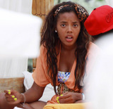 Angela Simmons Photo - EXCLUSIVE Angela Simmons daughter of rapper and hip-hop music pioneer Joseph Simmons celebrates her birthday with friends  Simmons turned 23 yesterday and continued her birthday celebrations through the weekend as she lounged poolside at Nikki Beach with a group of girl and guy friends Miami Beach FL 091910 Fees must be agreed prior to publication