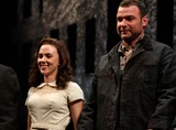Arthur Miller Photo - Scarlett Johansson and Liev Schreiber Taking Their Opening Night Curtain Call at Arthur Millers a View From the Bridge at the Cort Theatre in New York City on 01-24-2010 Photo by Henry Mcgee-Globe Photos Inc 2010