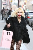 Amanda Lepore Photo - NYC  121810EXCLUSIVE Amanda Lepore wearing leopard pants and shoes shopping for lingerie at Agent Provocateur and Kiki de Montparnasse with a friend in SOHOEXCLUSIVE photo by Adam Nemser-PHOTOlinknet