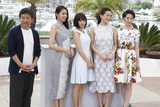 Hirokazu Koreeda Photo - CANNES 14 MAY Director Hirokazu Koreeda and actresses Masami Nagasawa Suzu Hirose Haruka Ayase and Kaho attend the Umimachi Diary (Our Little Sister) photocall during the 68th annual Cannes Film Festival on May 14 2015 in Cannes France (Photo by Laurent KoffelImageCollectcom)