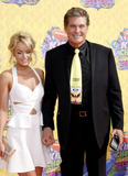 Hayley Roberts Photo - Hayley Roberts and David Hasselhoff at the Nickelodeons 27th Annual Kids Choice Awards held at the USC Galen Center in Los Angeles on March 29 2014 in Los Angeles California Credit Lumeimagescom