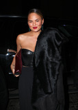 The Donnas Photo - February 10 2014 New York CityChristine Teigen arriving at the Donna Karan New York 30th Anniversary fashion show during Mercedes-Benz Fashion Week Fall 2014 on February 10 2014 in New York City