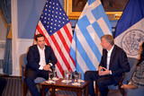 Alexis Tsipras Photo - October 1 2015 New York CityGreek Prime Minister Alexis Tsipras meets New York Mayor Bill de Blasio in Downtown Manhattan on October 1 2015 in New York CityBy Line Curtis MeansACE PicturesACE Pictures Inctel 646 769 0430