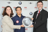 LISA BAIRD Photo - Short Track Speedskater Apolo Anton Ohno attends the announcement of a new multi-year partnership between BMW Group  the United States Olympic Committee at BMW of Manhattan on July 26 2010 in New York City