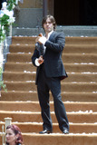 Jared Leto Photo - Actor Jared Leto holding Russian gun AK 47 on the set of Lord of War at Brighton Beach in Brooklyn New York City August 3 2004