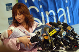 Aleta St James Photo - NEW YORK NOVEMBER 10 2004 Meet Americas Oldest New Mom Aleta St James holding press conference to announce that she gave birth to twins Francesca and Gian at the age of 57 Francesca and Gain are Aletas first children