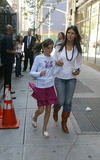 Aliana Lohan Photo - NEW YORK SEPTEMBER 28 2005    Lindsay Lohan wears a stunning dress with sneakers on the Chelsea set of her new music video which also features her little sister Aliana