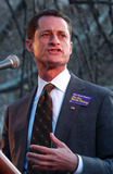 Anthony Weiner Photo - Anthony Weiner at a labor rally in New York to support striking writers