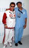 AMANDA LAPORE Photo - Elton John David LaChapelle and Amanda Lapore at the opening gala of Davids Art Meets Technology photo exhibition New York May 29 2003