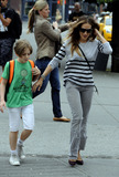 JAMES BRODERICK Photo - June 4 2014 New York CityActress Sarah Jessica Parker takes her son James Broderick to school in the West Village on June 4 2014 in New York City