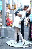 J Seward Johnson Photo - NEW YORK AUGUST 11 2005    On August 14 2005 World War II ended and the legendary photo of a kiss between a US sailor and nurse in Times Square The nurse in that iconic photo is Edith Shain who is celebrating the statue Unconditional Surrender by J Seward Johnson She will also be hosting a kiss-in this Sunday in Times Square commemorating the end of the war