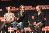 Austin Amelio Photo - MANNHEIM GERMANY - MARCH 17 (L to R) Actors Pollyanna McIntosh Steven Ogg Austin Amelio (The Walking Dead) panel at Walker Stalker Germany convention (Photo by Markus Wissmann)