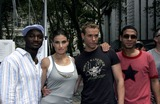 Wilson Jermaine Heredia Photo - (L-R) Actors Taye Diggs Idina Menzel Adam Pascal and Wilson Jermaine Heredia from the movie Rent pose for a photo before performing at Broadway For Life to benefit Broadway CaresEquity Fights AIDS in Bryant Park August 4 2005 in