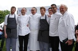 Tom Aikens Photo - London UK   Celebrity chefs  L-R Unknown Michel Roux Alain Ducasse  Tom Aiken  Atul Kochhar   and Antony Worrall Thompson at the  Taste of London  food and drink festival in Regents Park London 18th June 2009Rafe CookLandmark Media