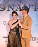 Felicity Jones Photo - London UK Felicity Jones Eddie Redmayne at the premiere of The Aeronauts at the BFI London Film Festival held at Odeon Luxe Leicester Square London on Monday 7 October 2019Ref LMK392 -J5560-081019Vivienne VincentLandmark Media WWWLMKMEDIACOM