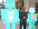 Tiffany Photo - London UK Tinie Tempah unveils an installation of Tiffany Blue Robots and a boom box playing a mix of seasonal tracks at Covent Garden Piazza in London on 29th November 2018Ref LMK73-J3054-301118Keith MayhewLandmark MediaWWWLMKMEDIACOM