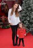 Team Member Photo - London UK  Una Foden (wife of English Rugby Union national team member Ben Foden)  and Aoife Belle Foden    at the Get Santa Film premiere Vue West End  30th November 2014 RefLMK392-50196-011214Vivienne VincentLandmark MediaWWWLMKMEDIACOM