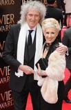 Anita Dobson Photo - London UK Brian May and Anita Dobson at Olivier Awards 2013 at The Royal Opera House Covent Garden 28th April 2013Matt LewisLandmark Media