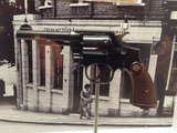Crime Scene Photo - London UK    The gun used by Ruth Ellis to shoot and kill David Blakely outside the Magdala Pub in Hampstead London in 1955 Ellis was executed that same year the last woman executed in Britain One of the exhibits from the London Metropolitan Polices Crime Museum Also known as Scotland Yards Special Collection the Police Museum and once also the Black Museum (in relation to the nature of the crimes) The collection dates from 1874 after a change in the law about keeping items after a trial had finished It was never opened to the public the items retained were for training purposes and also to help other police forces about the importance of crime scenes evidence and detection methods This is the first time a selection from the collection has gone on public display at the Museum of London and will be there until April 2016 The Police Museum is currently at New Scotland Yard 7th October 2015 Ref LMK00-58490-071015Steve BealingLandmark Media WWWLMKMEDIACOM