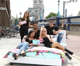 Abbie Holborn Photo - London UK Nathan Henry Abbie Holborn Scotty T Chloe Ferry Sophie Kasaei at Geordie Shore Land of Hope and Geordie Photocall at Tower Bridge London on the 16th August 2017Ref LMK73-J657-170817Keith MayhewLandmark MediaWWWLMKMEDIACOM