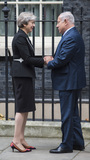 Benjamin Netanyahu Photo - London UK  Britains Prime Minister Theresa May greets the Prime Minister of Israel Benjamin Netanyahu in Downing Street on November 2 2017 in London EnglandRef LMK386-J1048-021117Gary MitchellLandmark MediaWWWLMKMEDIACOM