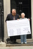 Annette Crosbie Photo - London UK  Actors Brian Blessed and Annette Crosbie are among a group delivering a post card to 10 Downing Street signed by celebrities such as Joanna Lumley Twiggy Eddie Izzard and Julian Clary in support of greater transparency on animal research on World Day for Laboratory Animals 24th April 2013Keith MayhewLandmark Media