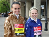 Charlotte Purdue Photo - London UK Lily Partridge and Charlotte Purdue at Elite Runners Photocall for the London Marathon 2019 outside the Tower Hotel Race HQ on April 24th 2019Ref LMK73-4803-250419Keith MayhewLandmark MediaWWWLMKMEDIACOM