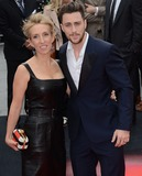 Aaron Taylor-Johnson Photo - London UK Aaron Taylor Johnson and Sam Taylor Wood at Godzilla European Premiere at the Odeon Leicester Square London on May 11th 2014Ref LMK392 -48438-120514Vivienne VincentLandmark Media WWWLMKMEDIACOM