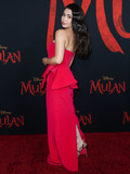 Aulii Cravalho Photo - HOLLYWOOD LOS ANGELES CALIFORNIA USA - MARCH 09 Actress Aulii Cravalho wearing an Azzi  Osta dress arrives at the World Premiere Of Disneys Mulan held at the El Capitan Theatre and Dolby Theatre on March 9 2020 in Hollywood Los Angeles California United States (Photo by Xavier CollinImage Press Agency)