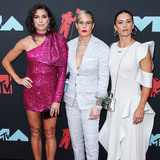 Ashlyn Harris Photo - NEWARK NEW JERSEY USA - AUGUST 26 American soccer players Alex Morgan Ashlyn Harris and Ali Krieger arrive at the 2019 MTV Video Music Awards held at the Prudential Center on August 26 2019 in Newark New Jersey United States (Photo by Xavier CollinImage Press Agency)