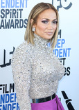 Valentino Photo - SANTA MONICA LOS ANGELES CALIFORNIA USA - FEBRUARY 08 Singer Jennifer Lopez wearing a Valentino top and skirt Jimmy Choo shoes a Judith Leiber clutch and Anabela Chan earrings arrives at the 2020 Film Independent Spirit Awards held at the Santa Monica Beach on February 8 2020 in Santa Monica Los Angeles California United States (Photo by Xavier CollinImage Press Agency)