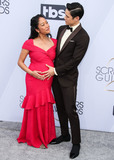 Harry Shum Jr Photo - LOS ANGELES CA USA - JANUARY 27 Pregnant Actress Shelby Rabara and husbandactor Harry Shum Jr arrive at the 25th Annual Screen Actors Guild Awards held at The Shrine Auditorium on January 27 2019 in Los Angeles California United States (Photo by Xavier CollinImage Press Agency)