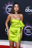 Gomez Photo - LOS ANGELES CALIFORNIA USA - NOVEMBER 24 Singer Selena Gomez wearing a Versace dress arrives at the 2019 American Music Awards held at Microsoft Theatre LA Live on November 24 2019 in Los Angeles California United States (Photo by Xavier CollinImage Press Agency)