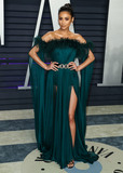 Shay Mitchel Photo - BEVERLY HILLS LOS ANGELES CA USA - FEBRUARY 24 Actress Shay Mitchell wearing a Labourjoisie gown and accessorized her look with vintage Cartier jewels Judith Lieber belt with Jimmy Choo shoes and clutch arrives at the 2019 Vanity Fair Oscar Party held at the Wallis Annenberg Center for the Performing Arts on February 24 2019 in Beverly Hills Los Angeles California United States (Photo by Xavier CollinImage Press Agency)