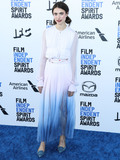 Margaret Mad Photo - SANTA MONICA LOS ANGELES CALIFORNIA USA - FEBRUARY 08 Actress Margaret Qualley wearing a Chanel dress and jewelry with Roger Vivier shoes arrives at the 2020 Film Independent Spirit Awards held at the Santa Monica Beach on February 8 2020 in Santa Monica Los Angeles California United States (Photo by Xavier CollinImage Press Agency)