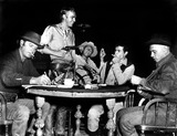 Yul Brynner Photo - Brad Dexter Steve Mcqueen James Coburn Horst Buchholz and Yul Brynner on the Set of the Magnificent Seven 1960 Supplied by SmpGlobe Photos Inc Stevemcqueenretro